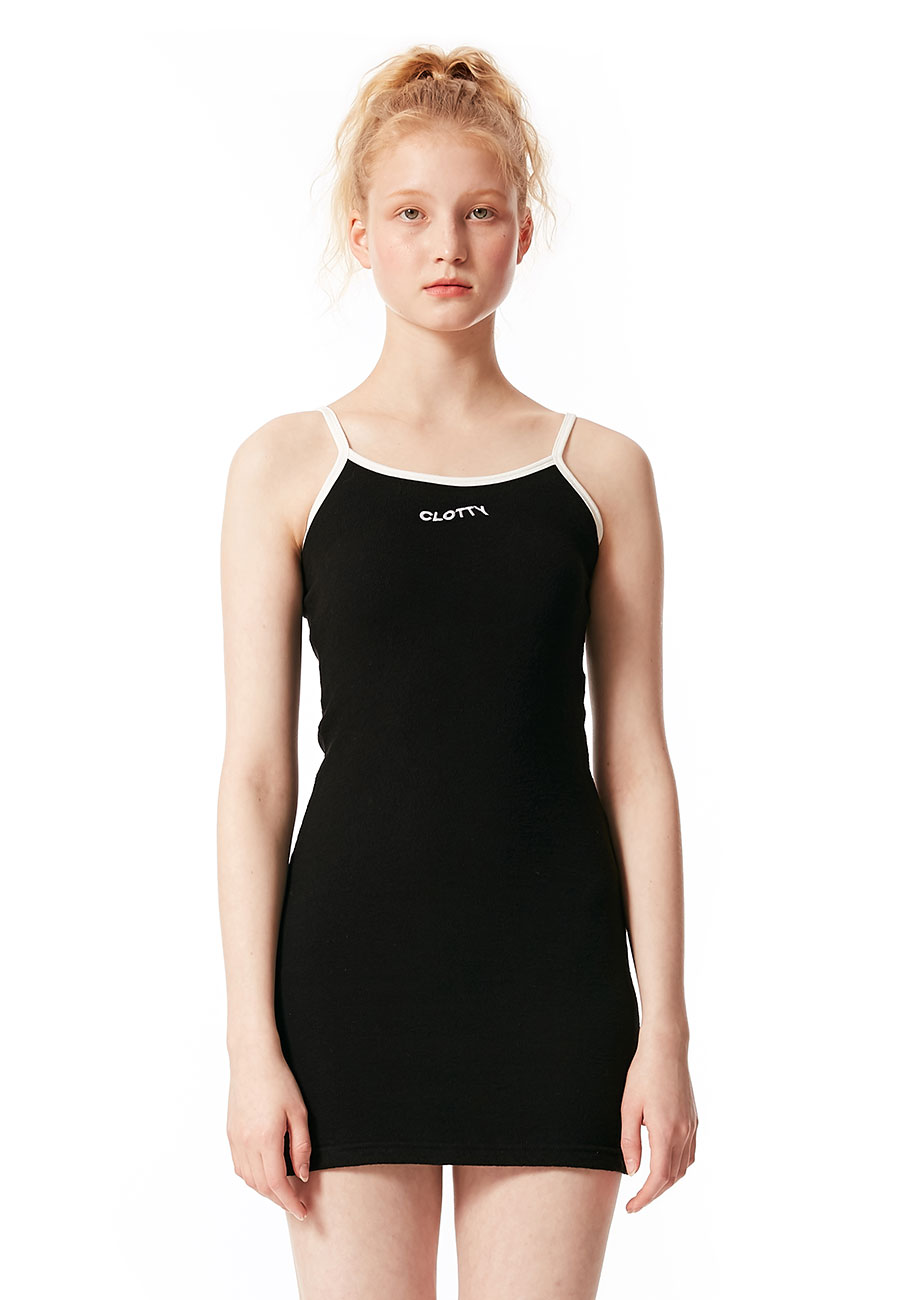 LOGO SLEEVELESS ONE-PIECE[BLACK]
