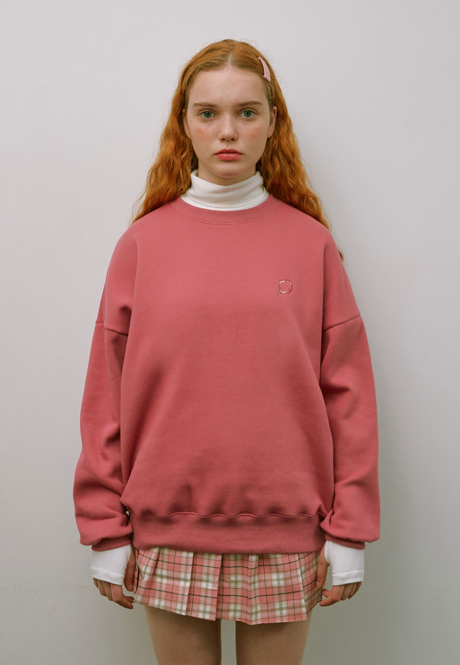 BACK POINT MIX LOGO SWEAT-SHIRT[PINK]
