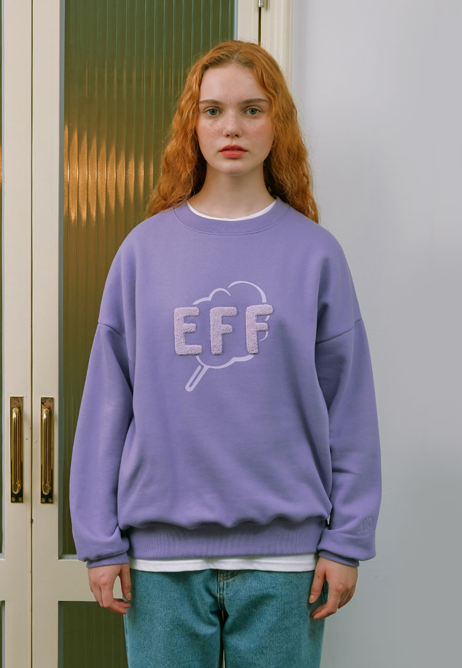 OUTLINE CC EFF SWEAT-SHIRT[PURPLE]