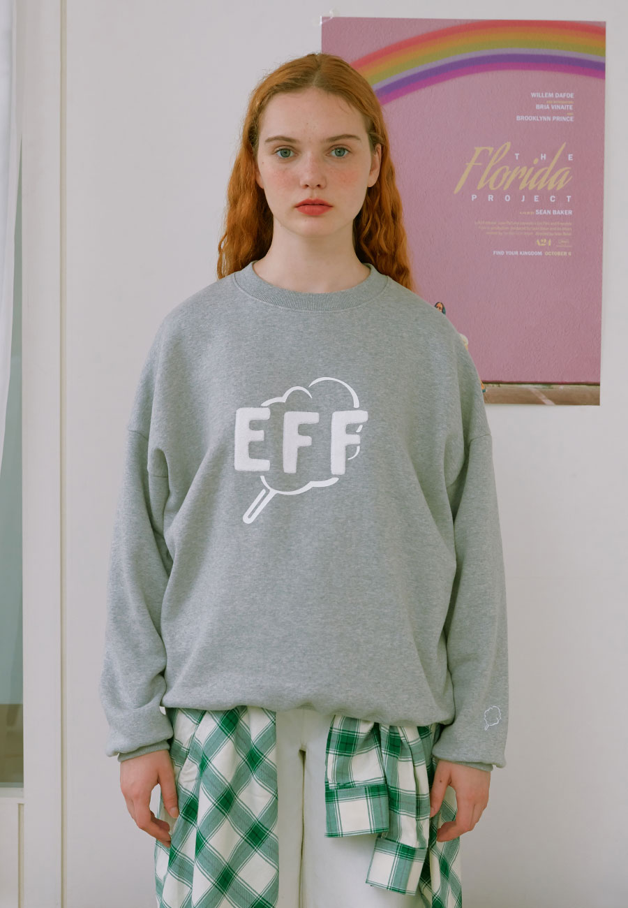 OUTLINE CC EFF SWEAT-SHIRT[GREY]