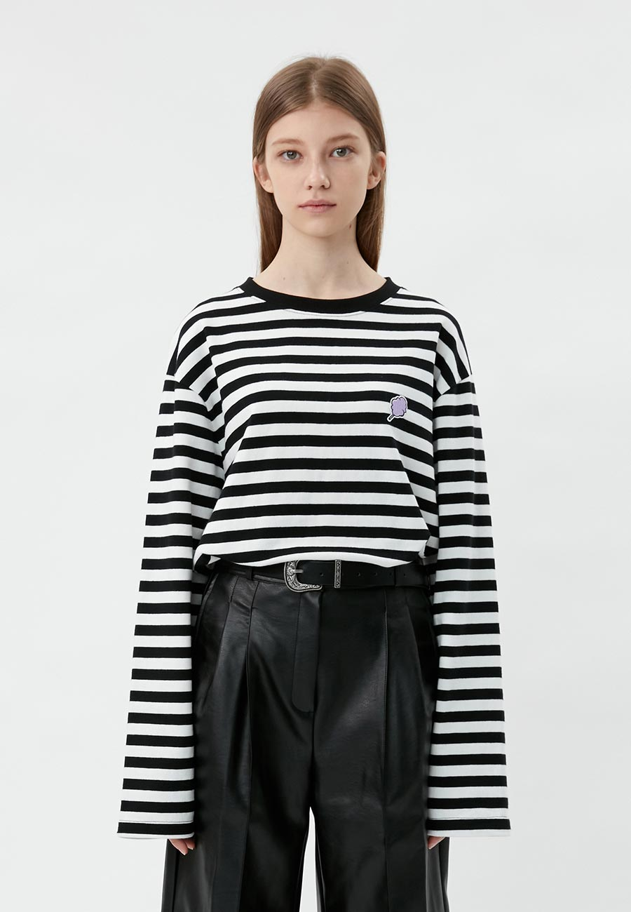 STRIPE CC LONG SLEEVE[BLACK]