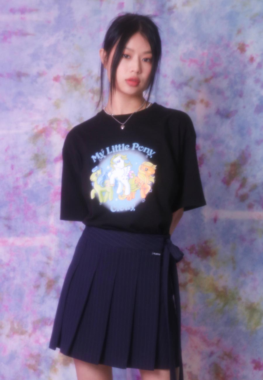 3 PONY T-SHIRT[BLACK]